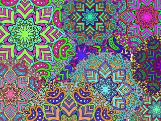Собирать пазл Abstract snowflakes онлайн