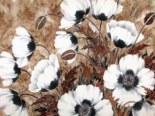 Собирать пазл White poppies онлайн