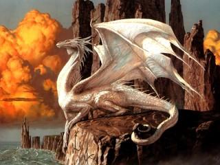 Собирать пазл Beliy drakon онлайн