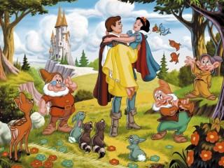 Собирать пазл Snow White and prince онлайн