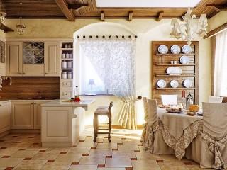 Собирать пазл Beige kitchen онлайн