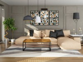 Собирать пазл Beige sofa онлайн