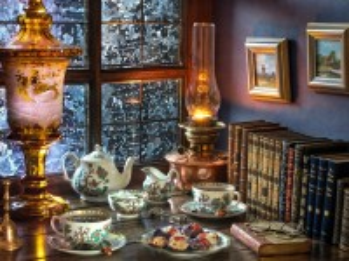 Собирать пазл Tea by lamplight онлайн
