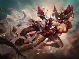 Собирать пазл The girl with the dragon онлайн