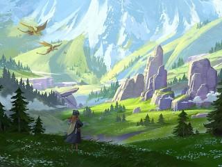 Собирать пазл Dragon valley онлайн