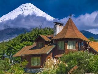Собирать пазл House under the mountain онлайн