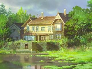 Собирать пазл House by the pond онлайн