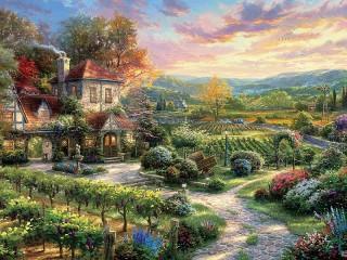 Собирать пазл House of the winemaker онлайн