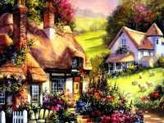 Собирать пазл House in the flowers онлайн