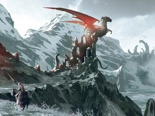 Собирать пазл Dragon on ruins онлайн