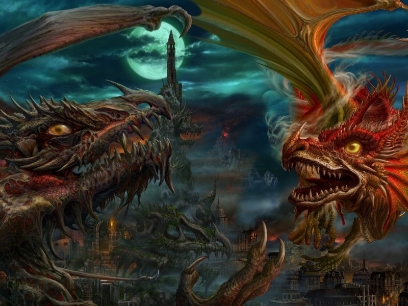 Rompecabezas Recoger rompecabezas en línea - Dragons