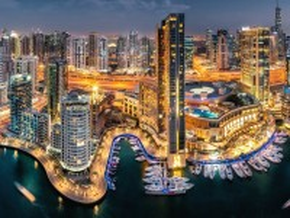 Собирать пазл Dubai night онлайн
