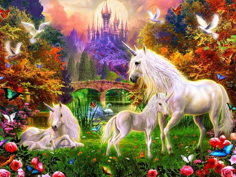 Rompecabezas Recoger rompecabezas en línea - Unicorns