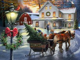 Собирать пазл Christmas tree онлайн