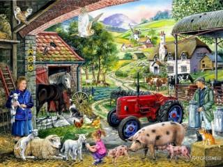 Собирать пазл Farm care онлайн
