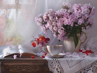 Собирать пазл Phlox and berries онлайн
