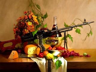 Собирать пазл frukti i oruzhie онлайн
