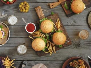 Собирать пазл Hamburgers онлайн