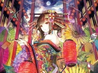 Собирать пазл Geisha Kasane Teto онлайн