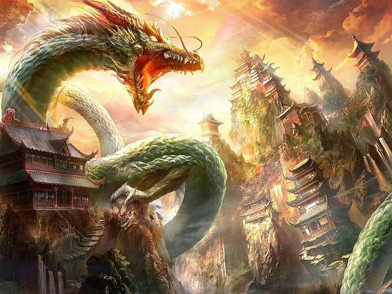 Rompecabezas Recoger rompecabezas en línea - Dragon
