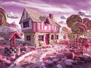 Собирать пазл Candy house онлайн