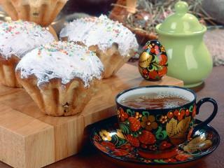 Собирать пазл Muffins and tea онлайн