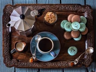 Собирать пазл Kofe i desert онлайн