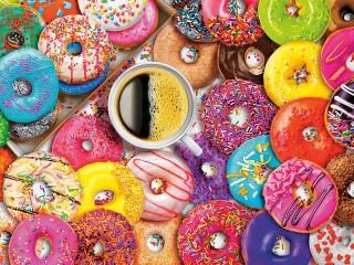 Собирать пазл Kofe i ponchiki онлайн