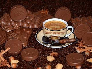 Собирать пазл Kofe i shokolad онлайн