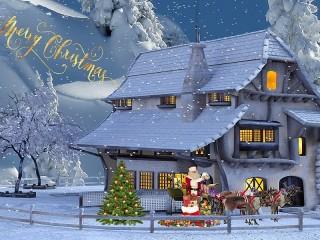 Собирать пазл Collage for Christmas онлайн