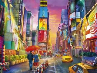 Собирать пазл Paint the town онлайн