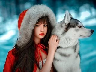 Собирать пазл Little Red Riding Hood онлайн