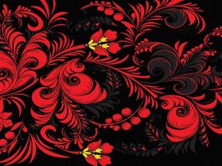 Собирать пазл Red and black pattern онлайн