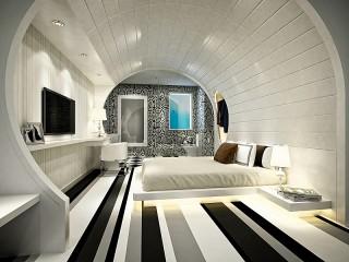 Собирать пазл Round bedroom онлайн