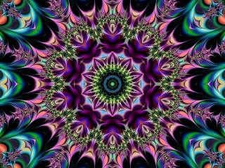 Собирать пазл A circular fractal онлайн