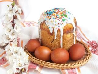 Собирать пазл Kulich Easter eggs онлайн