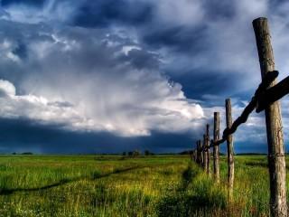 Собирать пазл Field and sky онлайн