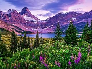 Собирать пазл Lilac Mountains онлайн