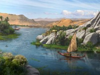Собирать пазл Boat on the Nile онлайн
