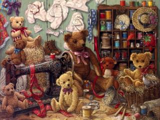 Собирать пазл Toy workshop онлайн