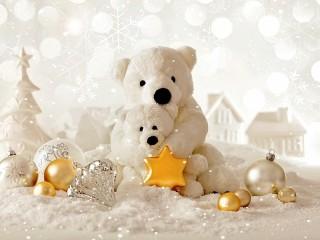 Собирать пазл Bears with toys онлайн