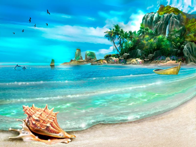 Rompecabezas Recoger rompecabezas en línea - The sea-shore