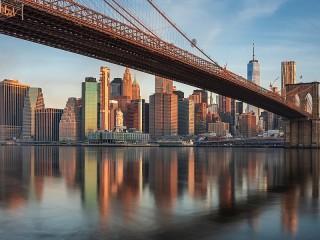 Собирать пазл Bridge in new York онлайн