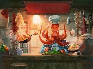 Собирать пазл Multi-cook онлайн