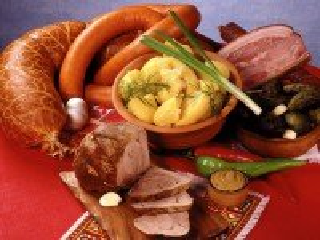 Собирать пазл Dinner with meat онлайн
