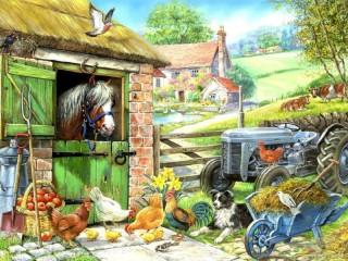 Собирать пазл On the farm 2 онлайн