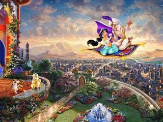 Собирать пазл On magic carpet онлайн