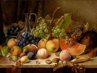 Собирать пазл Still life with fruit онлайн