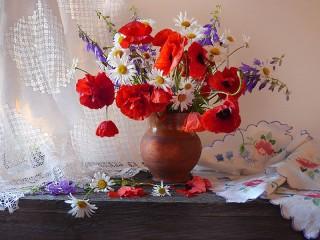 Собирать пазл Still Life with Poppies онлайн