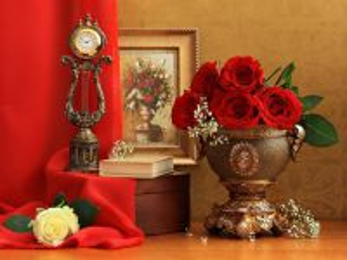 Собирать пазл Still-life with roses 3 онлайн